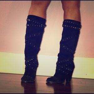 Racheal Roy studded boots